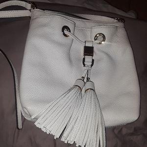 Michael Kors white leather crossbody.